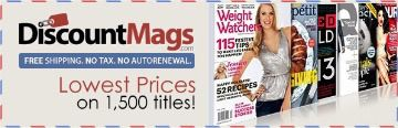HUGE DISCOUNT MAGAZINE SUBSCRIPTIONS MARCH 2015: Magazines On Sale for Only $1.00 On DiscountMags.com - STACKING COINS SAVING MONEY [SCSM]