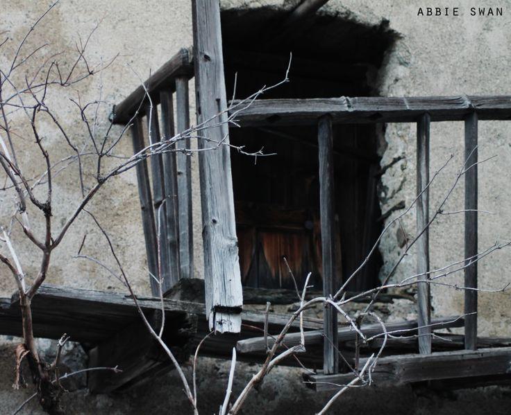 Ruined balcony in La Thuile, Italy.