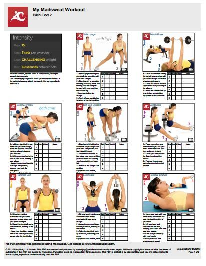 Bikini Bod Workout 2  Weekend Workout