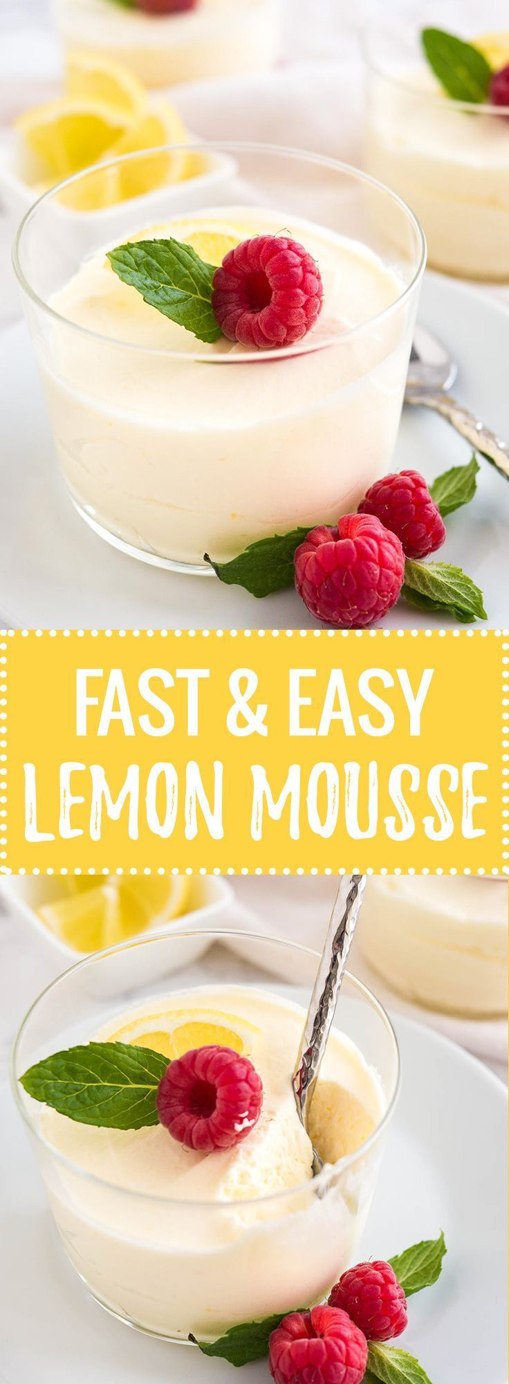 This easy Lemon Curd Mousse has only 3 ingredients and can be made in minutes! A perfect cold summer dessert that will impress your guests and is dangerously delicious, yet SO easy to make from scratc(Cake Ingredients In A Jar)