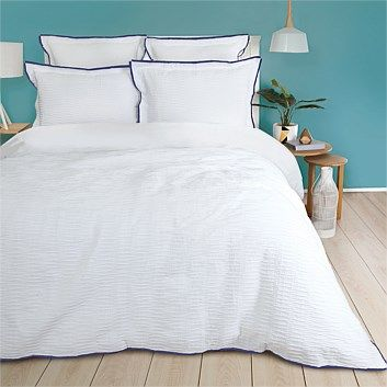 Royal Premier Windsor Seersucker Duvet Cover Set