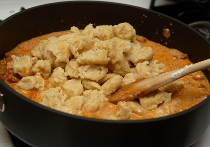 Chicken Paprikash & Galuska (Dumplings)