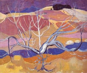 William Gillies paintings | William George Gillies, Mauve Landscape