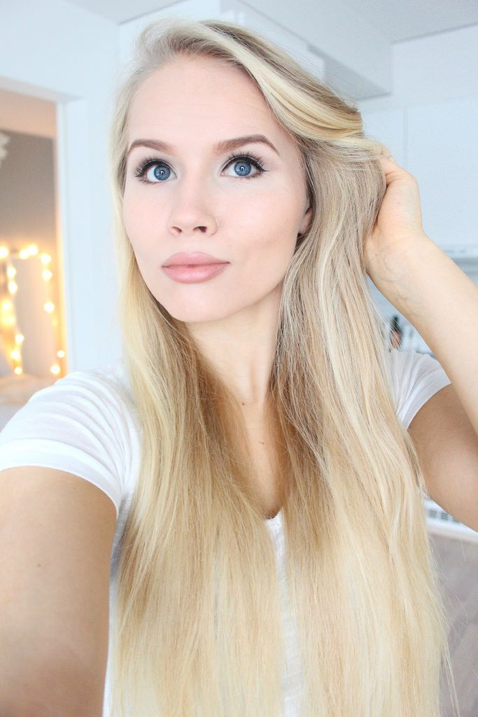 """""""The perfect foundation should have full coverage, last all day long, control shine and still look light and natural"""", says blogger Anni Maaninka wearing Lumene CC Color Correcting Foundation in shade Light. #foundation #lumene"""