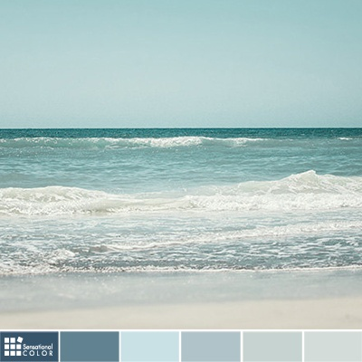A Palette Of Blue Green Hues Perfect For The Home Left To Right Colors Are From Valspar Dan Color Meaning Symbolism Psychology In