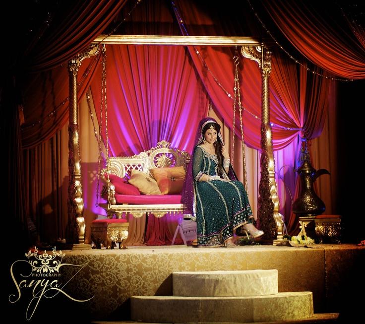 Bride On Sangeet Mehendi Stage Asian Wedding ThemesWedding