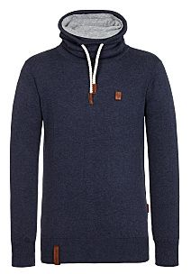 naketano Feuerkralle V - Knitted Pullover for Men - Blue