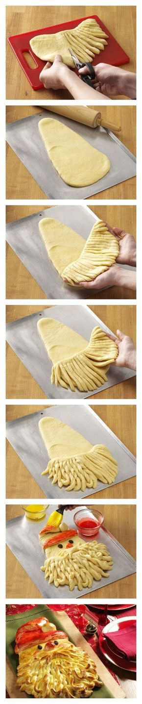 DIY Santa Bread diy christmas christmas recipes santa christmas crafts christmas food christmas party favors christmas deserts christmas food art kids recipes
