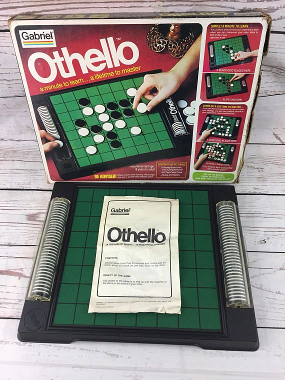 1975 Othello Board Game Snap Tight Chip Compartments 100%