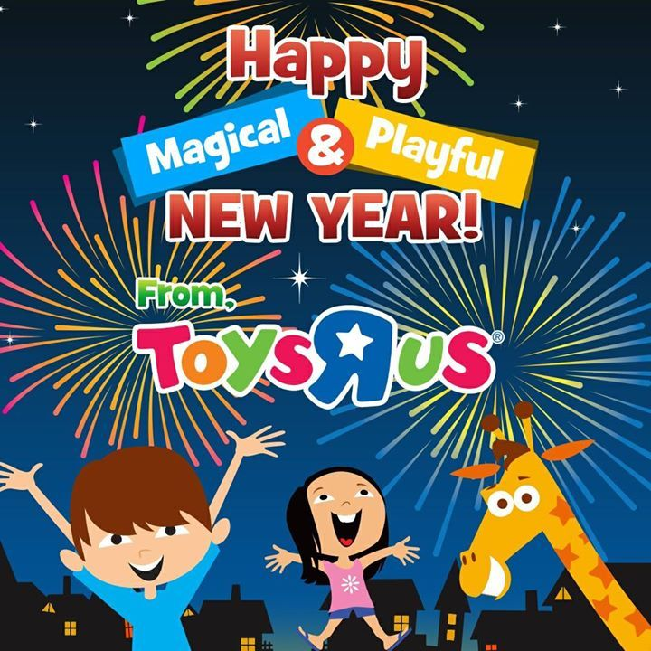"""Hooray, it's 2018! Wishing you 365 days booming with new lessons and adventures, Toys """"R"""" Us Kids. Happy New Year! 😎🎉🎈🎆 #hellokitty #sanrio#biggestfan #novelty #toys #clothing"""