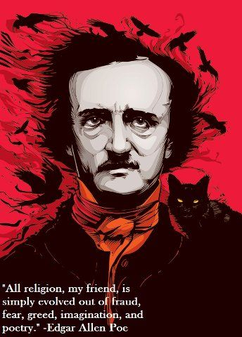 Edgar Allen Poe on religion