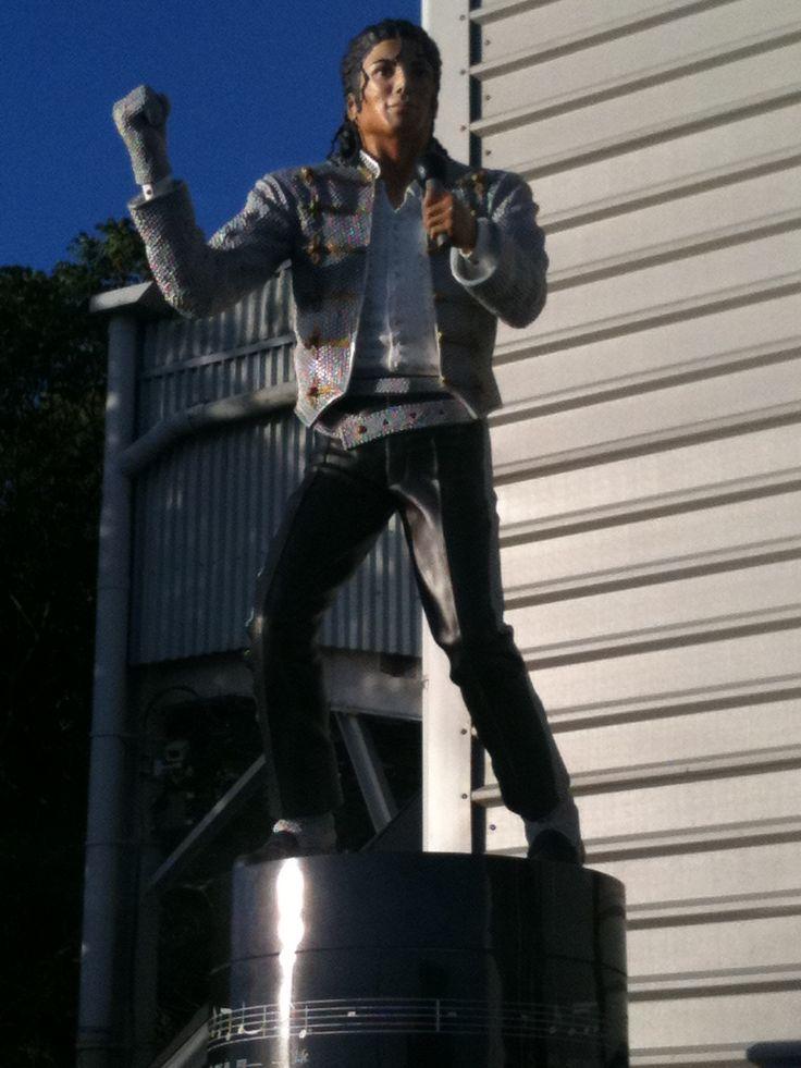 Michael Jackson at Craven Cottage