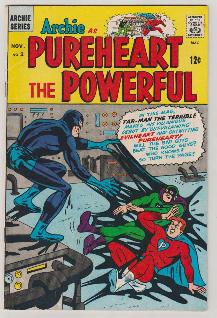 Archie as Pureheart the Powerful; Vol 1, 2, Silver Age Comic Book. FN. November 1966. Archie Comics Publications #archie #silveragecomics #riverdale #comicsforsale
