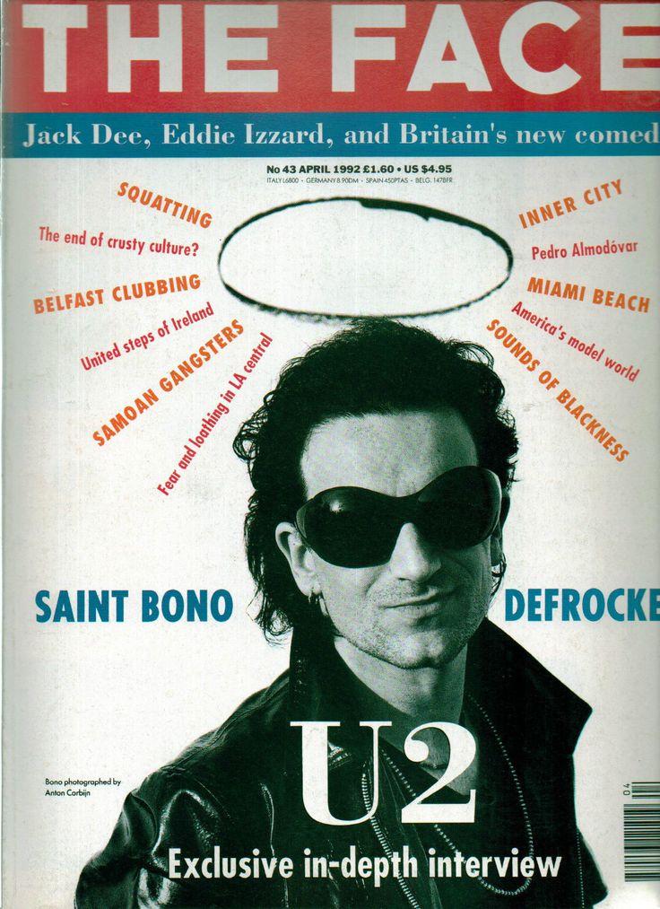THE Face Magazine NO 43 4 1992 U2 Jack DEE Eddie Izzard Bono   eBay