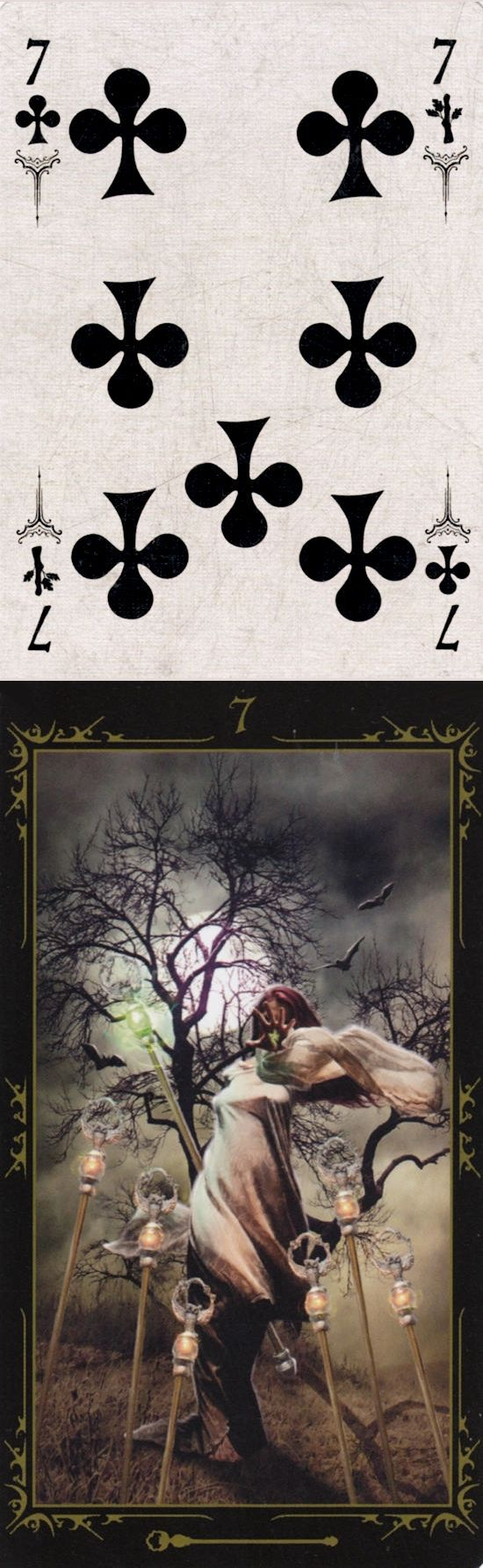 Seven of Wands: defensive and feeling overwhelmed (reverse). Arcana Tarot Tarot deck and Dark Fairytale Tarot deck: tarot marseille, tarot nano starter kit and tarot card reading libra. Best 2017 tarot decks for sale and oracles eye.