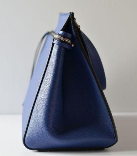 Celine EDGE Electric blue LEATHER CELEBRITY FAVOURITE IT BAG SUPER ...