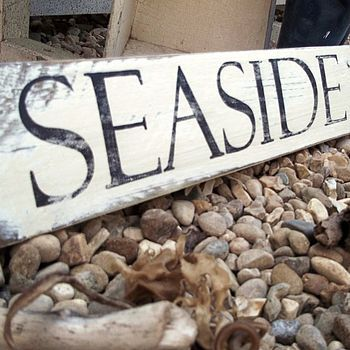 Personalised Vintage Seaside/Beach Hut Sign by Potting Shed Designs. £35