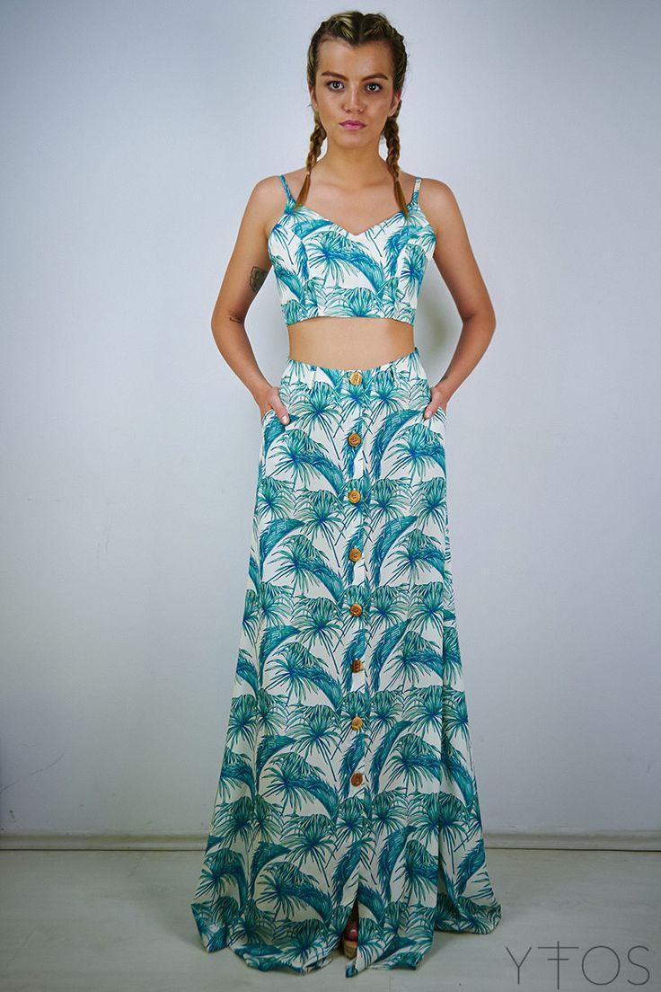 Karavan : Azalea Palm Maxi Skirt