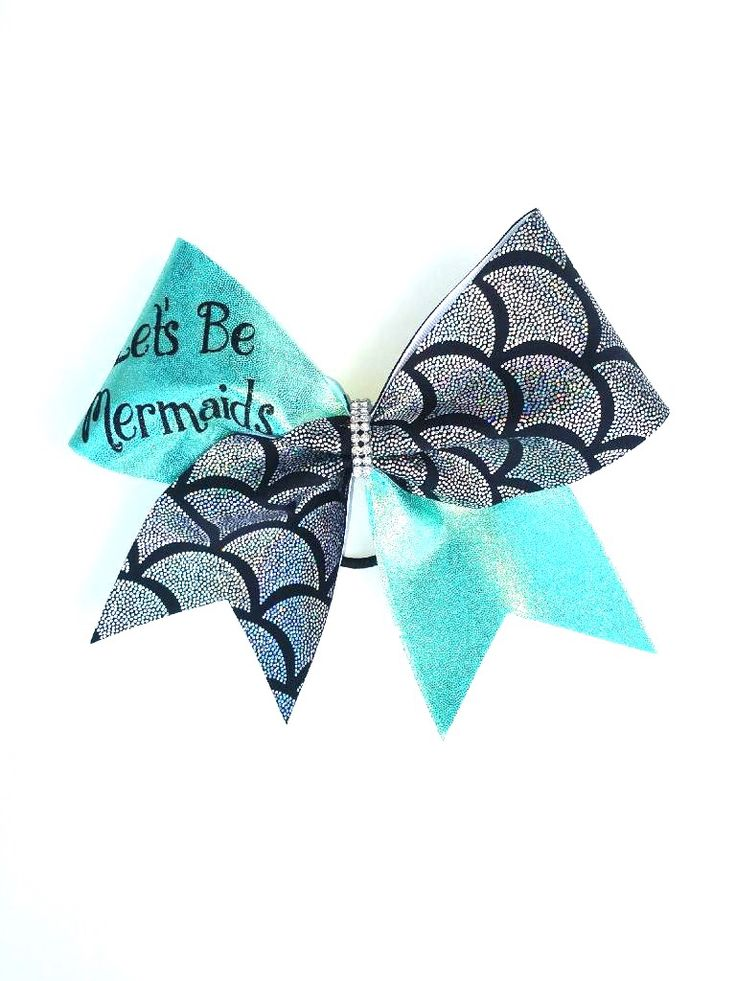 Let's Be Mermaids Cheer Bow by Just Cheer Bows