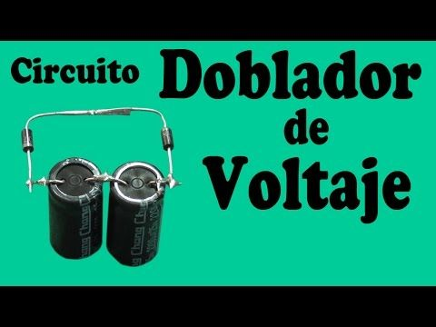 Circuito Doblador de Voltaje Casero (muy fácil de hacer) - YouTube