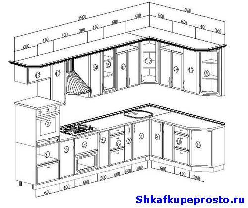 Фото проекта угловой кухни.