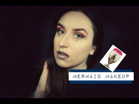 Mermaid Inspired MakeUp with SammyDress Mermaid Brush - YouTube