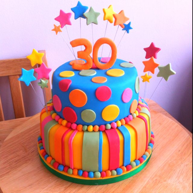 Oooooh I will be 30 in two years, love this cake