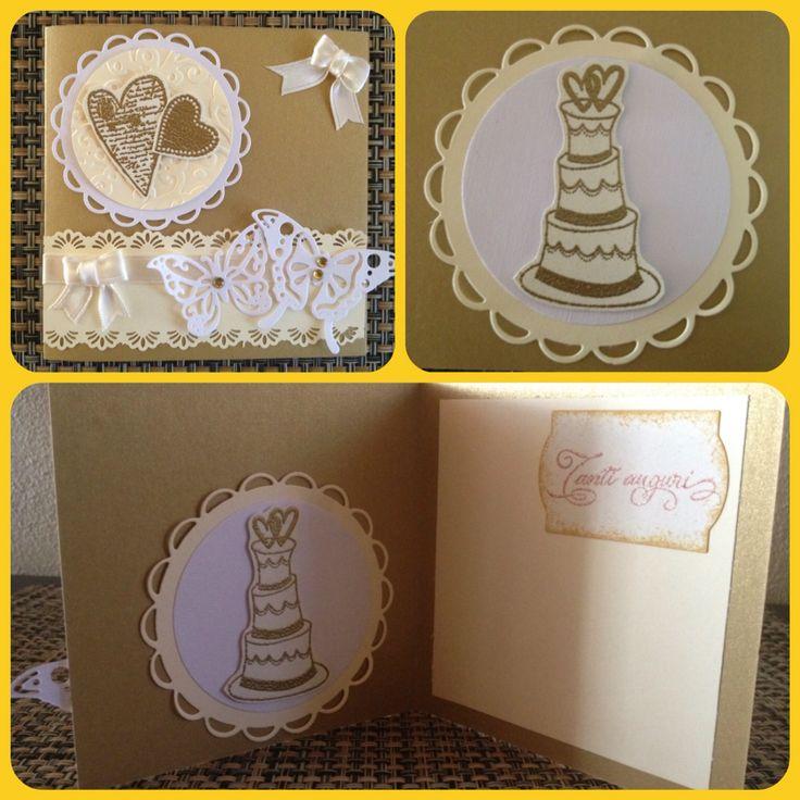 Card matrimonio. Cartoncino