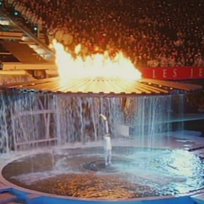 Cathy Freeman lights the flame during the Sydney 2000 Olympic Games.