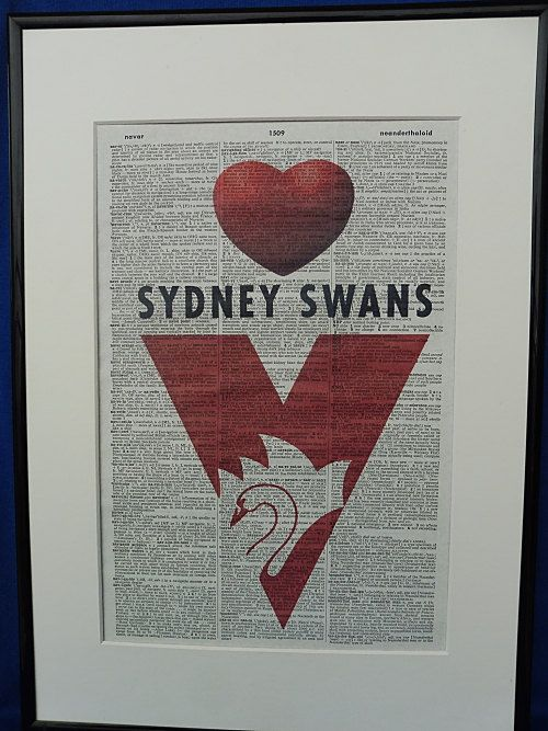 Sydney Swans AFL Football Team Wall Art Print by DecorisDesigns