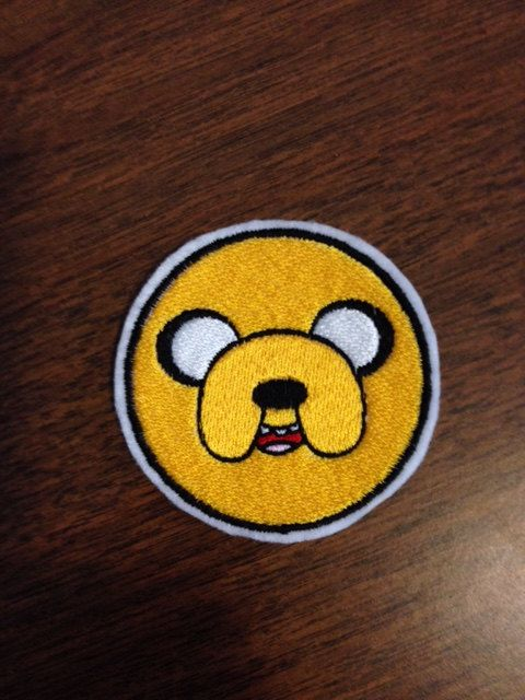 Jake le chien de Adventure Time - fer à repasser sur Patch brodé