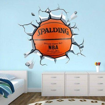 Wrecking Basket Ball - Moon Wall Stickers