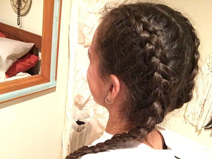 Mum did a Dutch on my hair