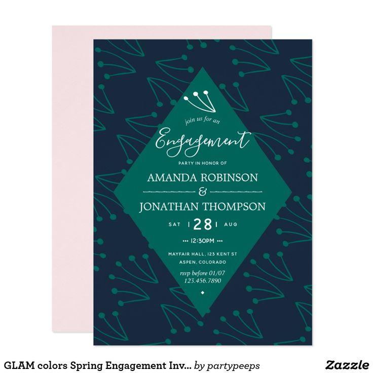 GLAM colors Spring Wedding Invitation spring