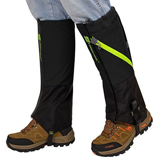 PAMASE Waterproof Extra Large Hiking Gaiters for Men and Women, High Leg Gaiters for Snow Hunting - XL   https://huntinggearsuperstore.com/product/pamase-waterproof-extra-large-hiking-gaiters-for-men-and-women-high-leg-gaiters-for-snow-hunting-xl/ #fitnesssuperstore,