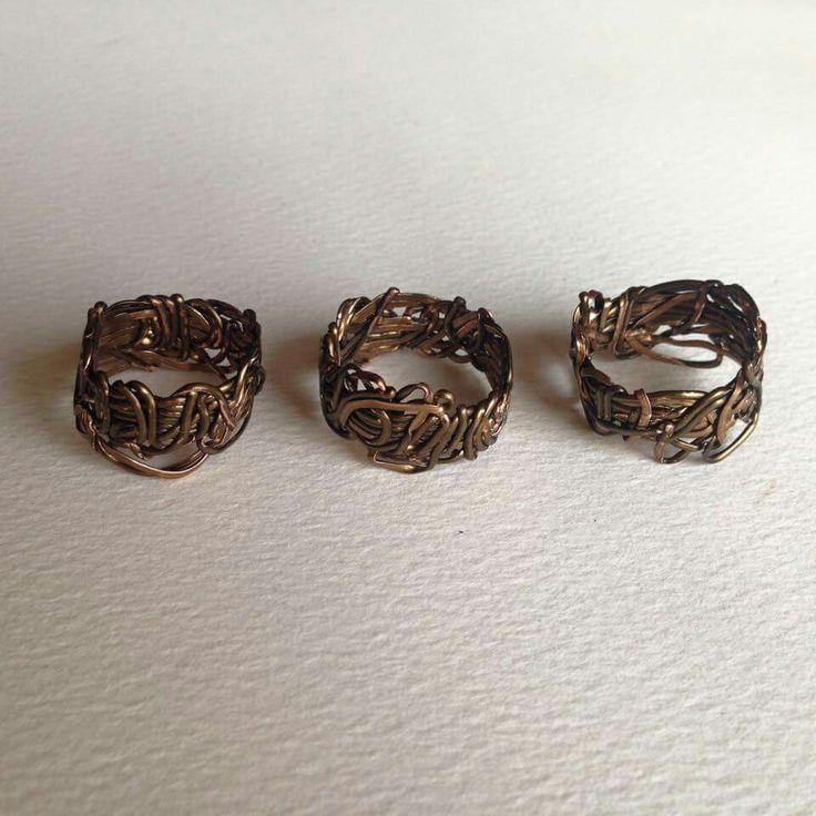 Hammered Wire Rings Hand made 'Vintage Bronze' enamel coated 100% copper Email: billybibbitpaidtheprice@gmail.com Facebook