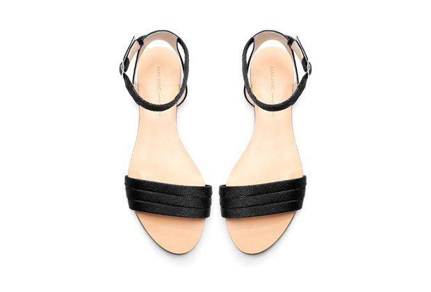 Flat Sandals for Every Occasion—Because Who Needs Heels? :: SILK SATIN ANKLE STRAP FLAT SANDALS, $39.90, ZARA.COM