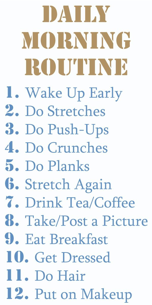 My ideal workout schedule. If only I could get #1 down...