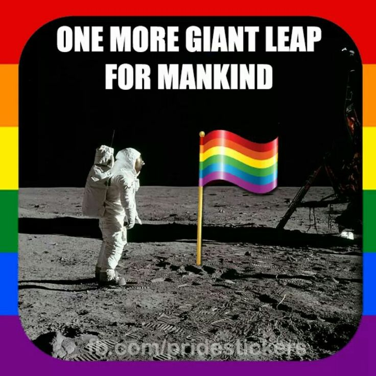 Image result for lgbt one giant leap for all mankind