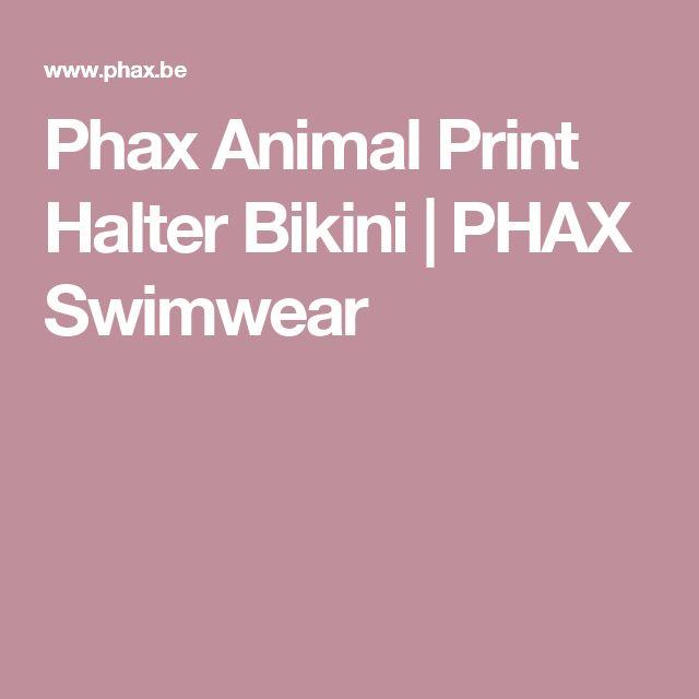 Phax Animal Print Halter Bikini | PHAX Swimwear