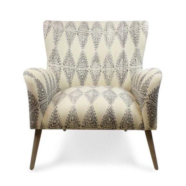 Grey Ikat Chair