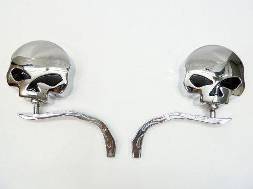 Skull Chrome Side Mirrors for Harley Dyna Softail Sportster Street Honda Shadow Rebel VT VTX 600 750 1100 1300 1800 Yamaha Road Royal V Star Warrior VMax Suzuki Savage Intruder Volusia Boulevard C50 M50 Kawasaki Vulcan VN 400 500 750 800 900 1500 by Tmsuschina. $43.99. Save 25% Off!
