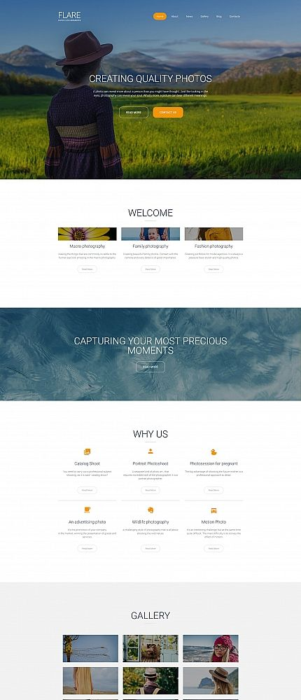 56 best Photo Gallery Templates images on Pinterest | Website ...