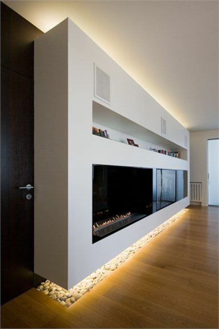 Les 25 meilleures id es de la cat gorie feu ouvert sur for Eclairage salon moderne