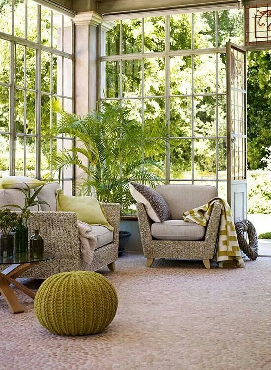 home conservatory. Love, love, loooooove!!!                                                                                                                                                                                 More