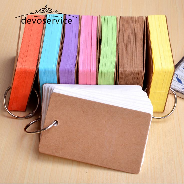 Cute Kawaii Candy Color Blank Kraft Paper Memo Pads Portable Notepads Words Cards Kids Gift Stationery School Supplies