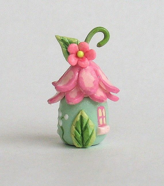 This miniature fairy blossom house secret box is a one of a kind original design and creation by artist C. Rohal. It is completely hand made, hand