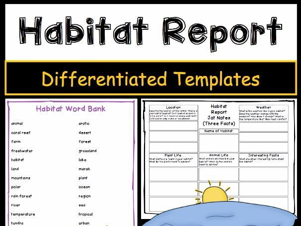 Report writing can be challenging for students. Use these differentiated habitat report writing templates with your students to meet their diverse learning needs while writing about habitats. The Informative Writing Templates - Habitats package is aligned...