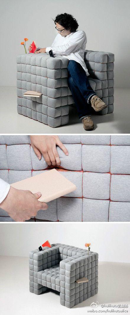 sofa-bookshelf - brilliant!
