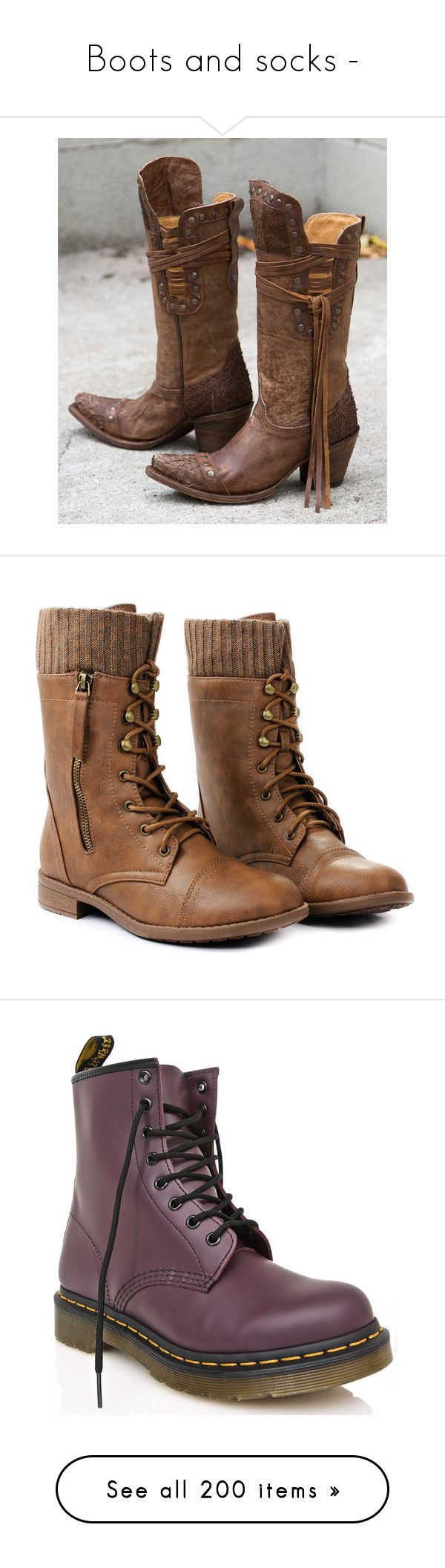 """Boots and socks -"" by argboo on Polyvore featuring shoes, boots, brown, equestrian boots, brown equestrian boots, vintage equestrian boots, brown riding boots, vintage brown boots, botas and sapatos"